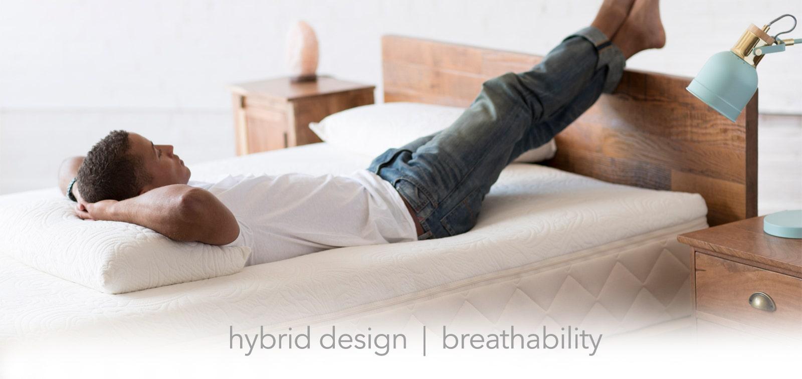 Man Resting On Mattress